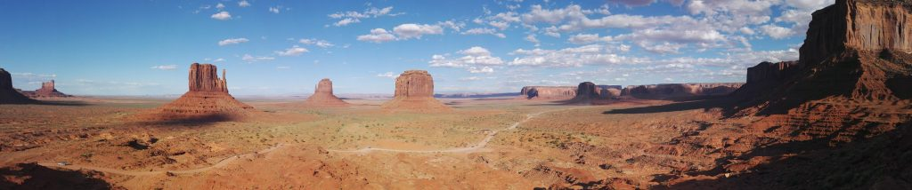 vue panoramique monument valley